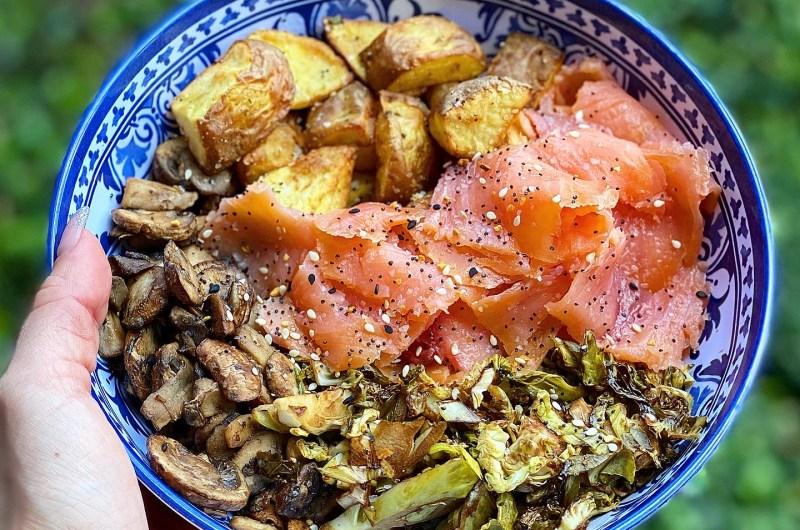 """Smoked Salmon """"Buddha"""" Bowls"""