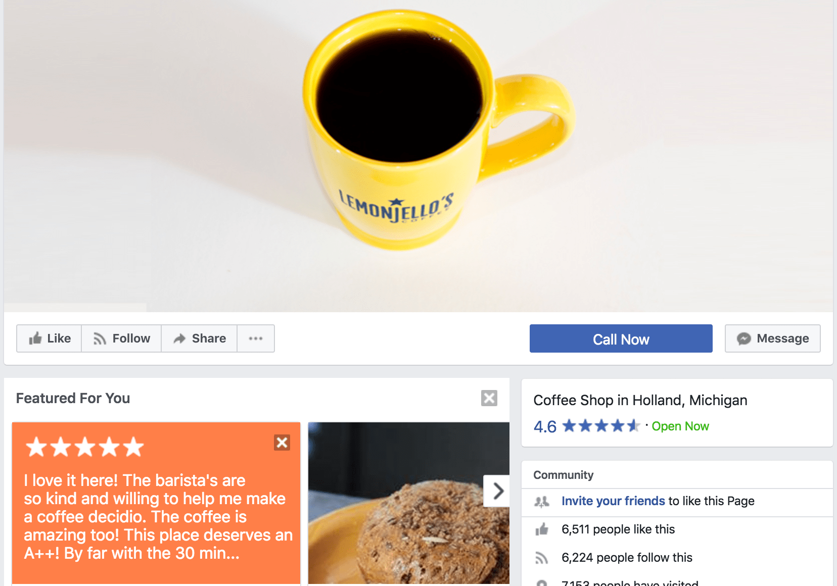 Facebook social media marketing for restaurants