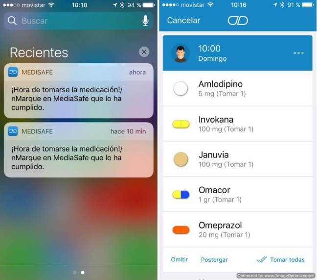 Notificaciones Medisafe