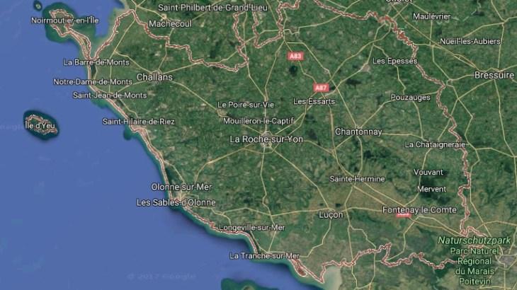 Vendée auf Google Maps