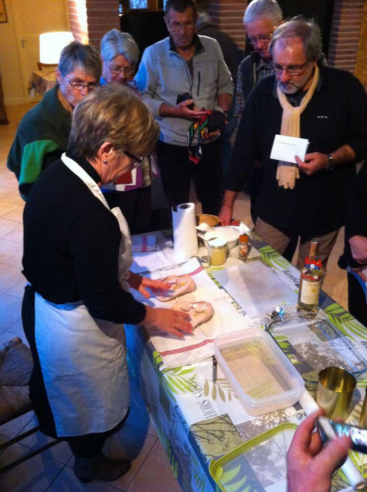 Atelier préparation foie gras
