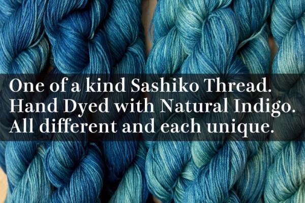 Gradient Color Sashiko Thread
