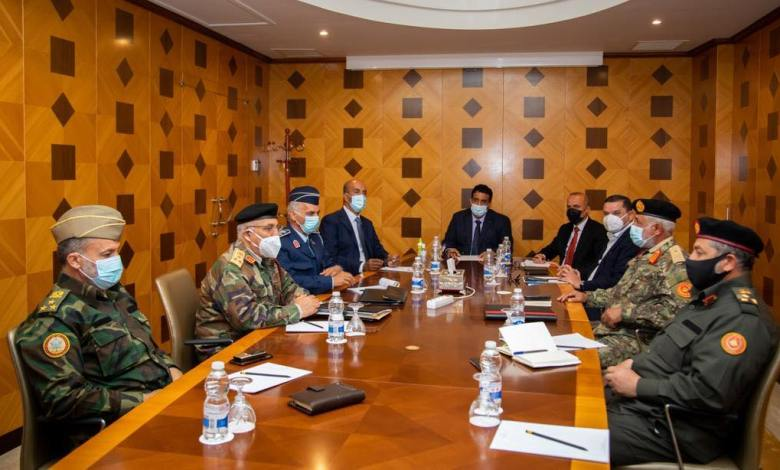 Photo of Dbeibah, Menfi discuss with 5+5 JMC holding HoR session in Sirte