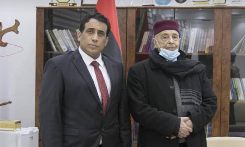 Photo of Aqila Saleh receives Menfi in Al-Qubbah