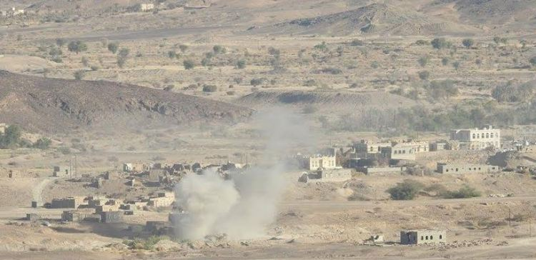 Arab Coalition air raid attacks targeting militia in south and east of the capital Sana'a