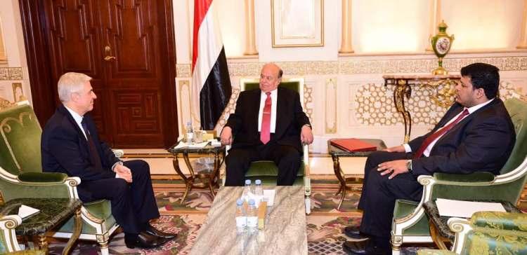 President Hadi receives Russian Ambassador