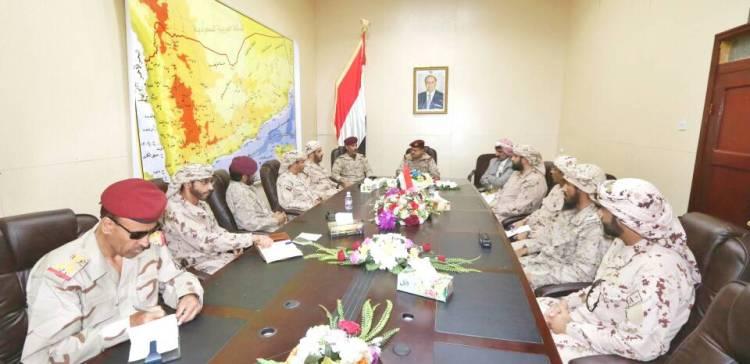 (Lt Gen) Al-Maqdeshi meets with Arab Coalition Forces Command in Marib