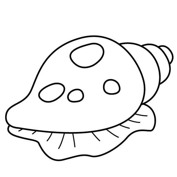 shell fish colouring pages