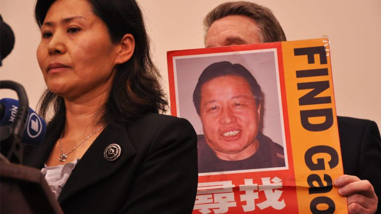 """""""Disappeared"""" lawyer receives award for dedication to China's religious freedom"""