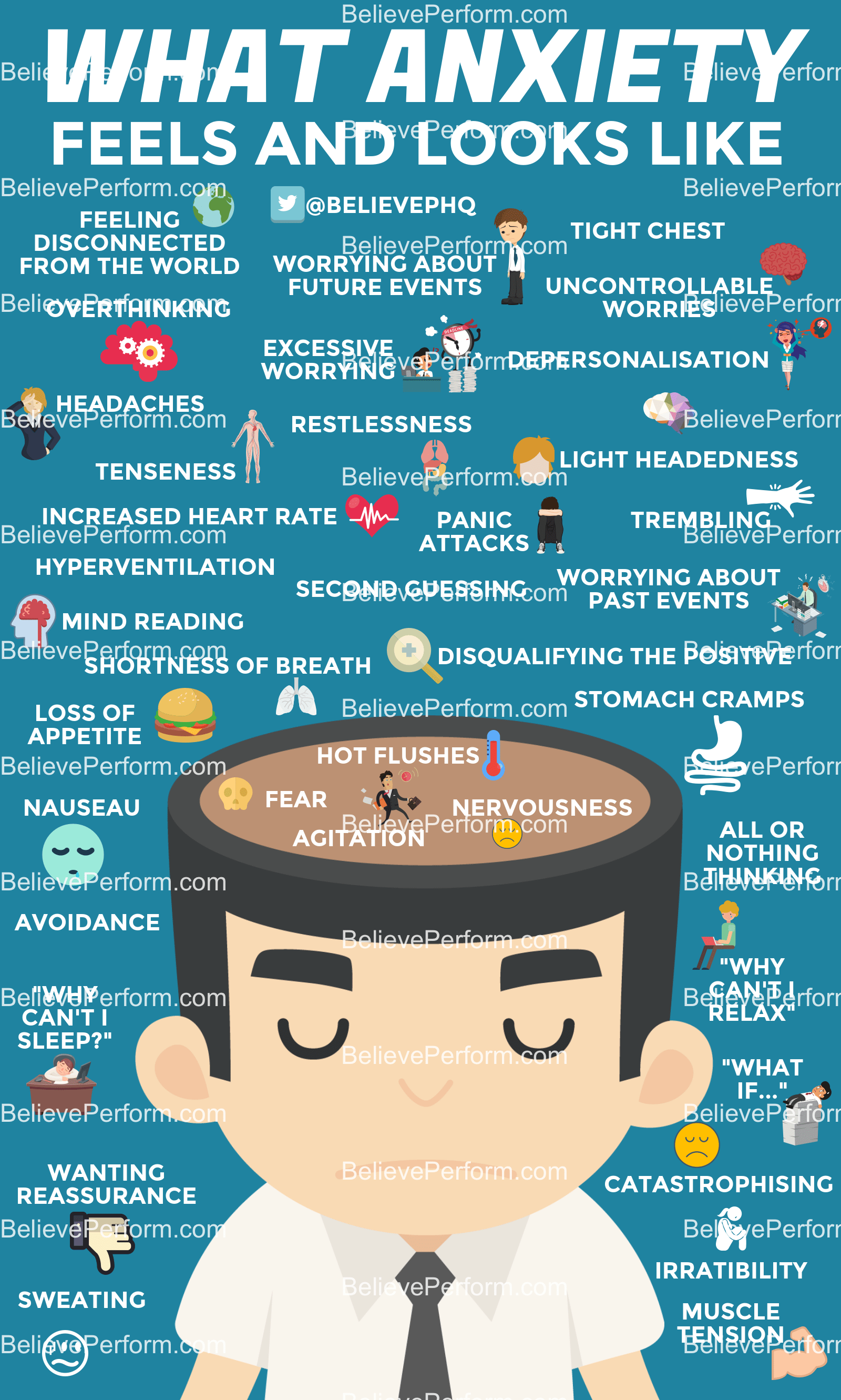21 Infographics About Anxiety And How To Get Rid Of This