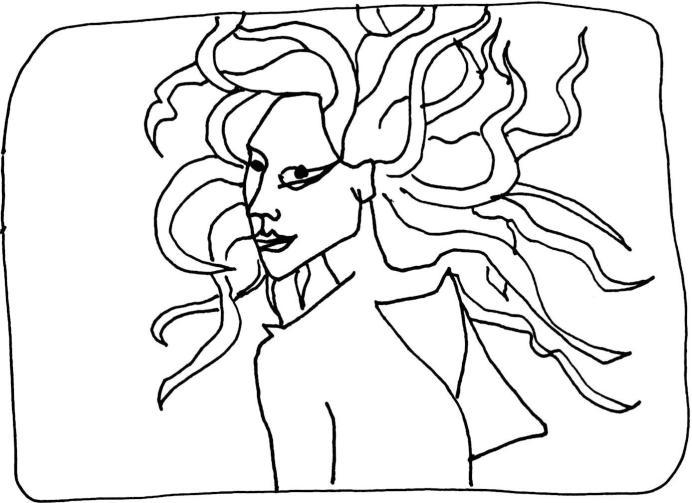 Lady Gaga déesse grecque dessin