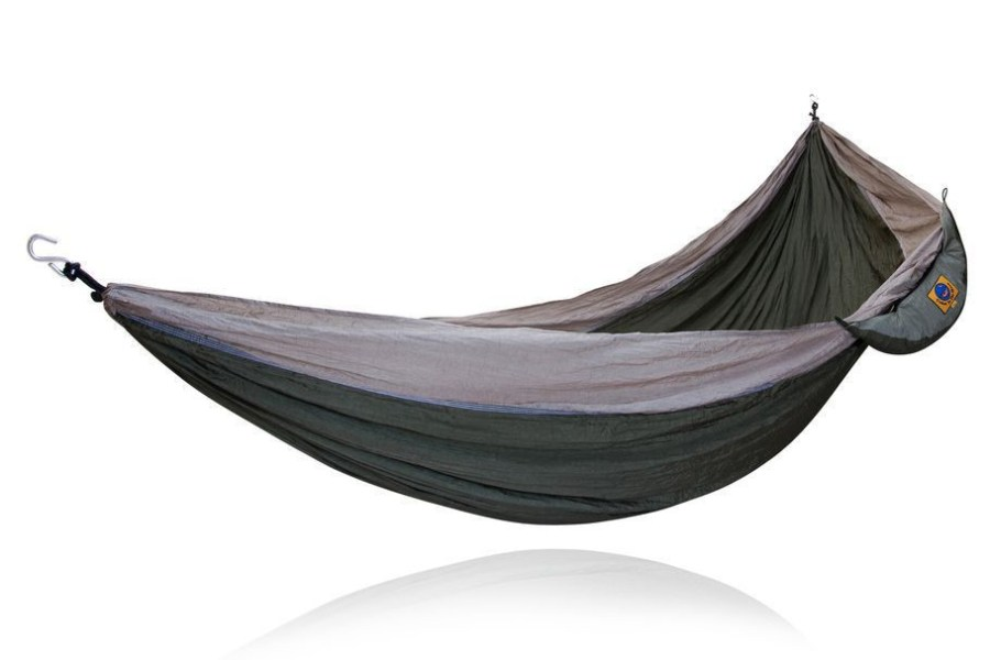 Ticket to the Moon Single Parachute Hammock   Comfortable  compact         Hamac simple bicolore     Ticket to the moon