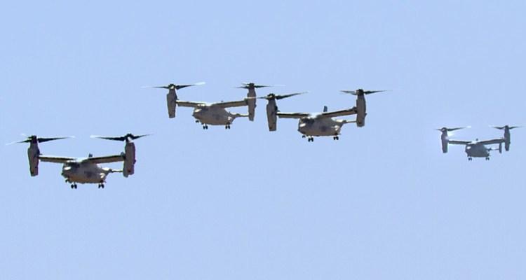 USMC MV-22 Ospreys in Gran Canaria