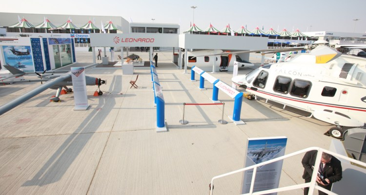 Italian Leonardo company at Dubai Air Shoe