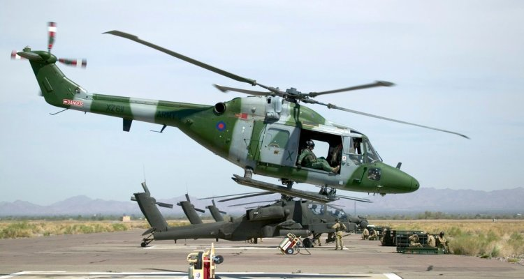 British Army Lynx helicopters