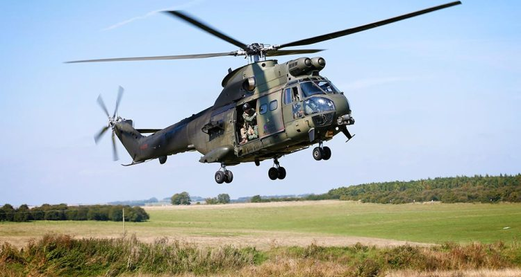 Puma helicopter Royal Air Force