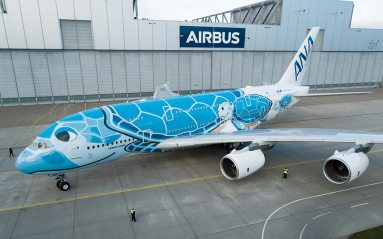 First-A380-ANA-rolls-out-of-paintshop