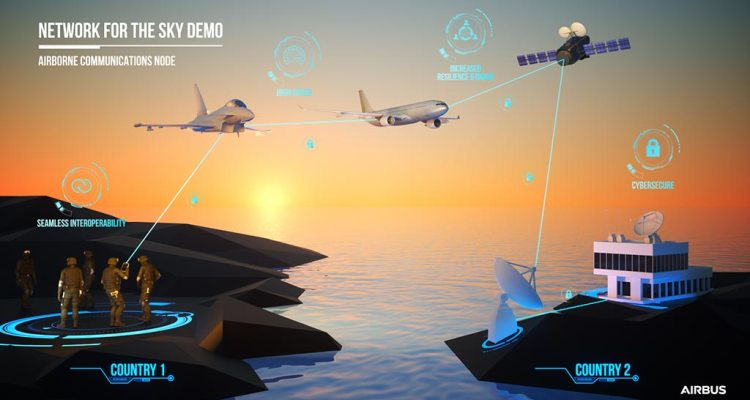 Airbus tests its Network for the Sky on a MRTT aircraft