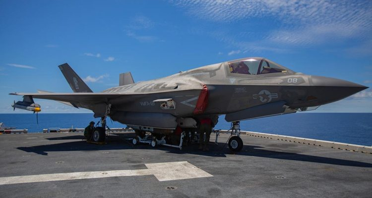 USMC F-35B completes simulated Combat Air Patrol with live AIM-9X ...