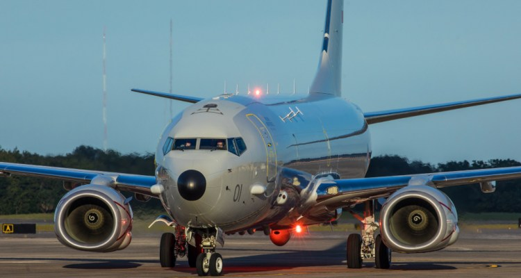 First Poseidon aircraft delivered to the RAF