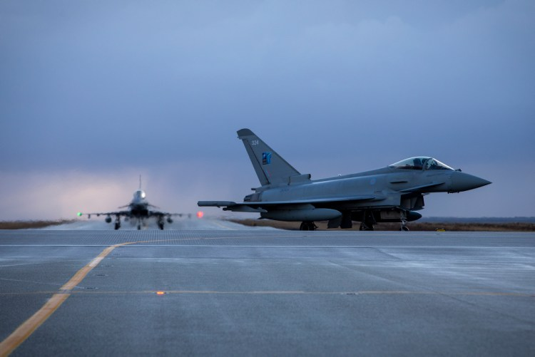 Royal Air Force Eurofighter Typhoon in Iceland