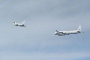 RAF Typhoon intercepts russian Il20M