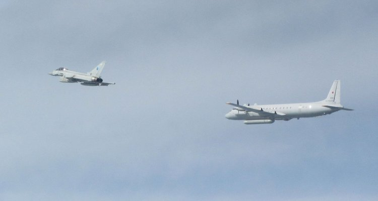 RAF Typhoon intercepts russian Il20M