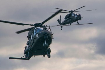Italian Army Aviation helicopters NH-90 and AW-129