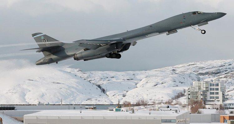 us b1 strategic bomber in bodo norway