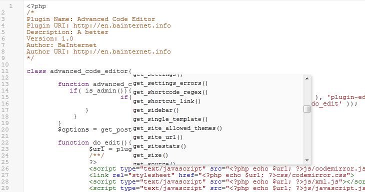 WordPress Advanced code editor 2.0