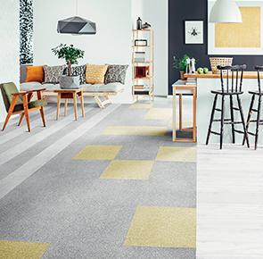 soft shiny style broadloom tiles