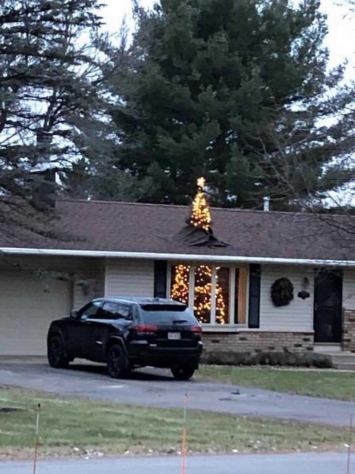 αστεία δέντρα Χριστουγέννων