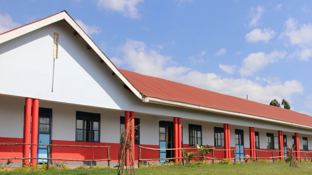 Den nya skolbyggnaden i Kabale, Uganda som finansierats av Better Globe