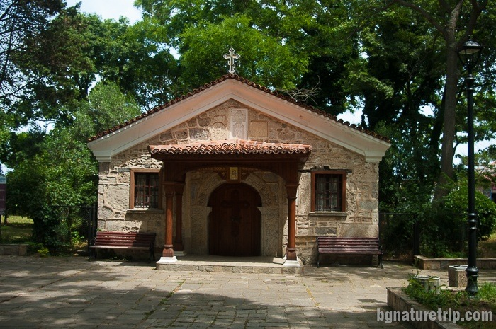 "he chapel of ""St. Zosimus "" in the park near the sea."