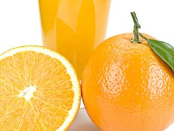 Menu with Orange