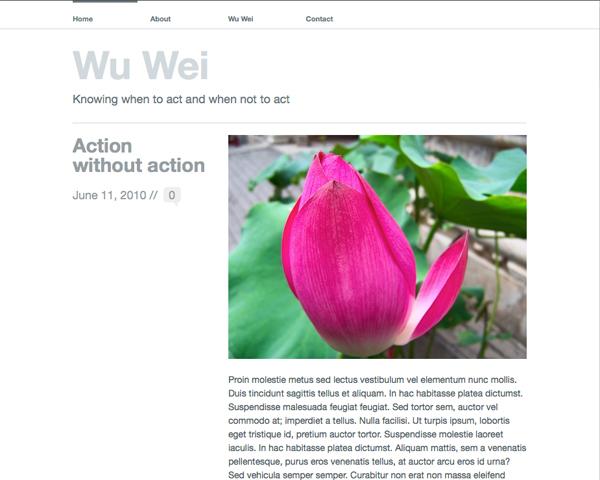 New Theme: Wu Wei