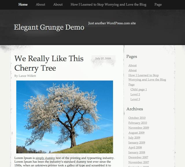 New Theme: ElegantGrunge
