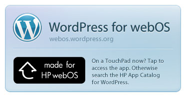WordPress for webOS: A New Way to Blog