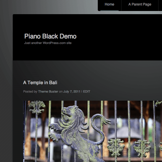 New Theme: Piano Black