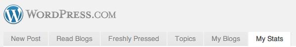 My Stats Tab on WordPress.com