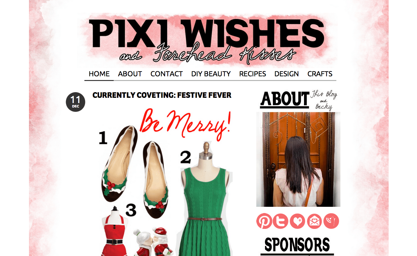 Pixi Wishes and Forehead Kisses