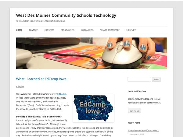 West Des Moines Community Schools Technology