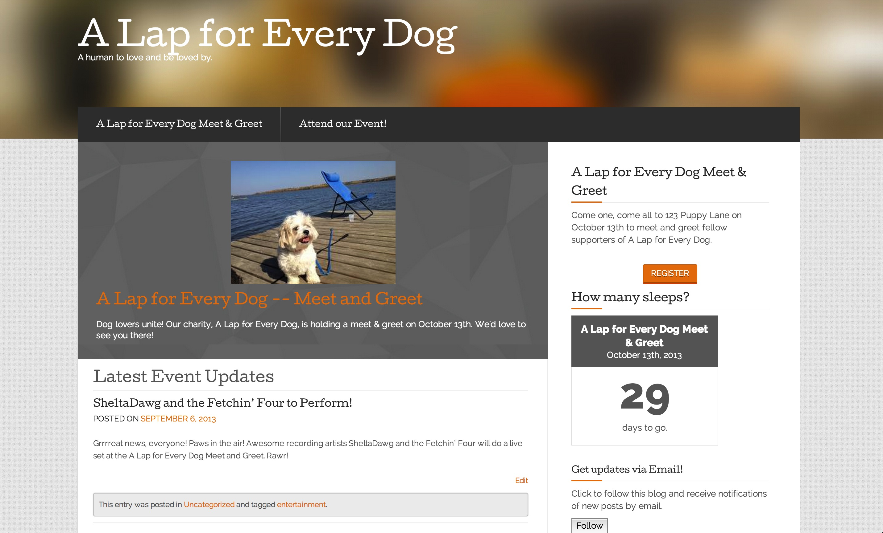 The Eventbrite single-event theme.