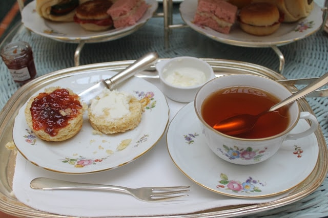 Scones, often served with clotted cream and jam