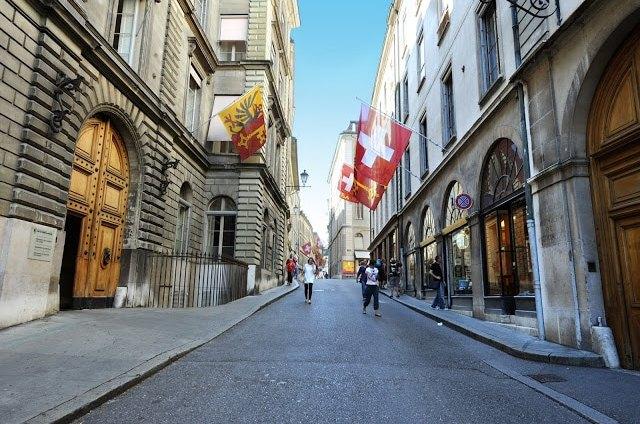 The gorgeous streets of Geneva