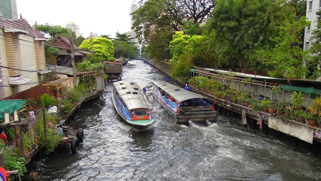 Khlong Saen Saep River, Bangkok, Thailand