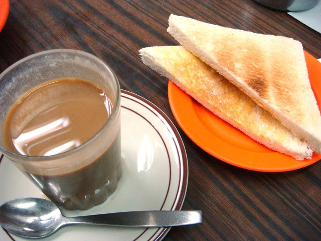 Toast with coffee