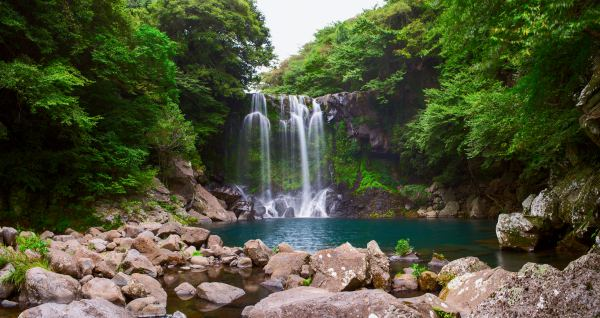 Jeju Island Attractions: Cheonjeyon Waterfall