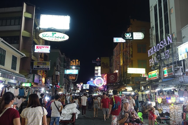 Vendors at Khao Shan Road sell a varying range of products