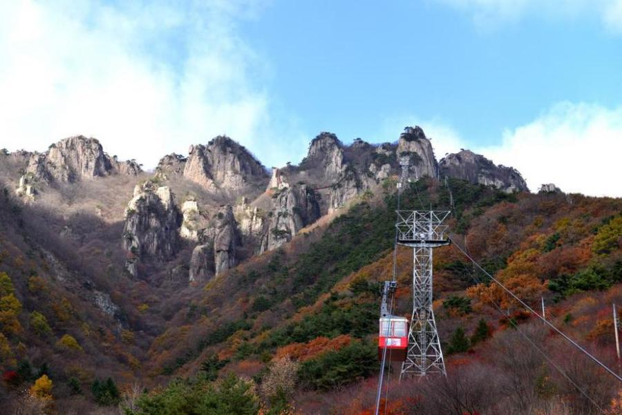 Fall in Korea: Daedunsan National Park Cable Car Ride